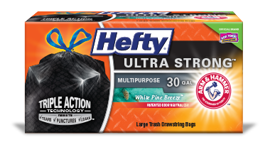 Hefty Ultra Strong Large Black Trash Bag