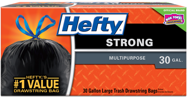 Thumbnail Strong Drawstring Large Trash Bags