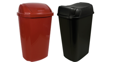 Lidded Wastebaskets