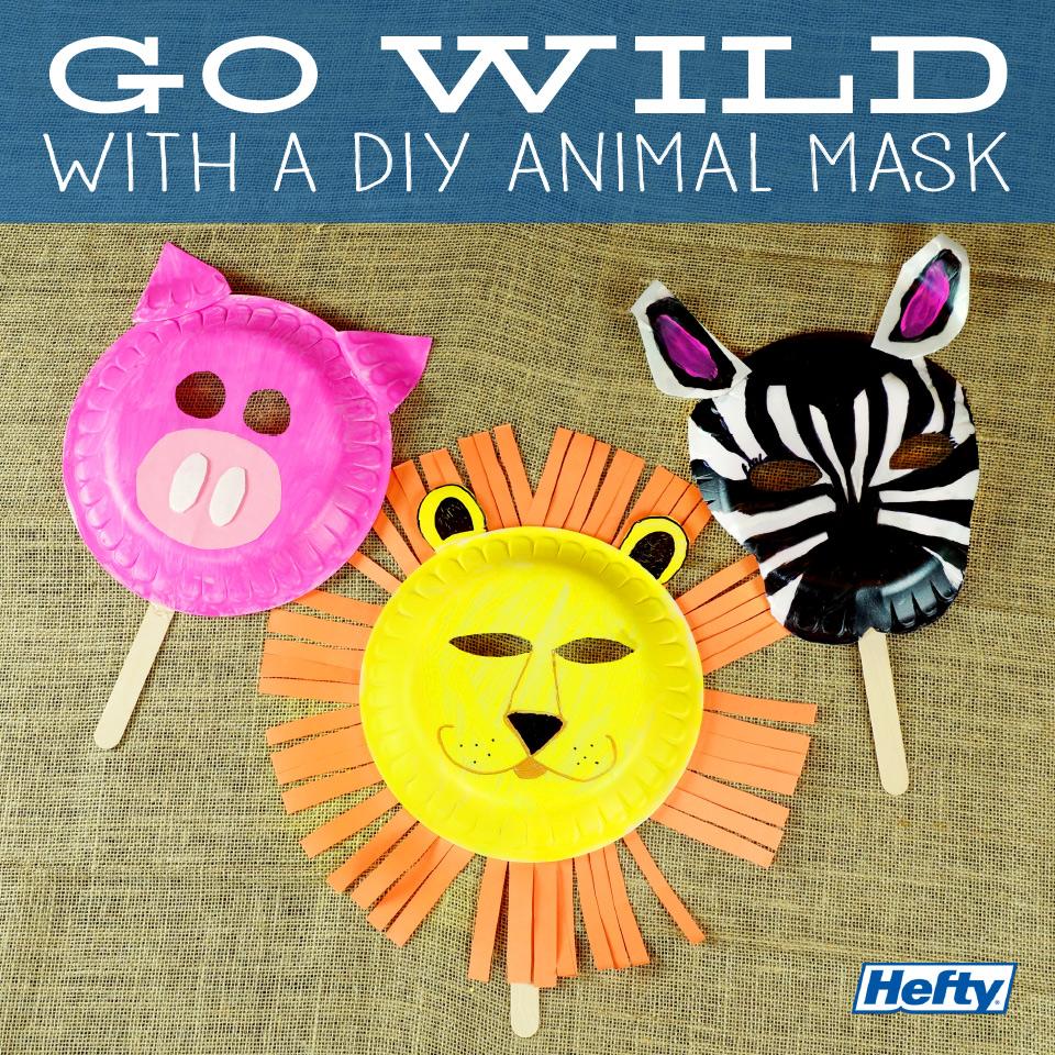 Thumbnail Thumbnail Thumbnail Thumbnail Thumbnail  sc 1 st  Hefty & Kids DIY Animal Masks | Hefty