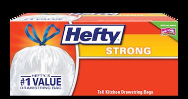 Strong Drawstring Kitchen Trash Bags