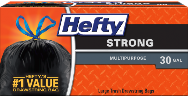 Hefty Strong Drawstring Large Trash Bags