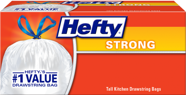 Hefty Strong Drawstring Kitchen Trash Bags