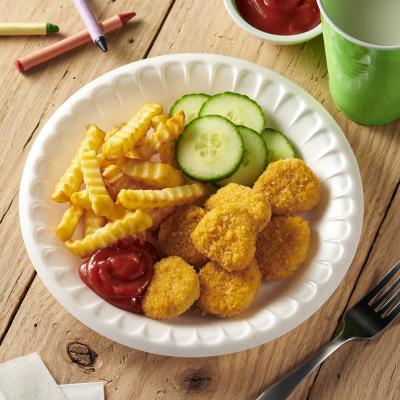 Everyday Foam Plate with Chicken Nuggets