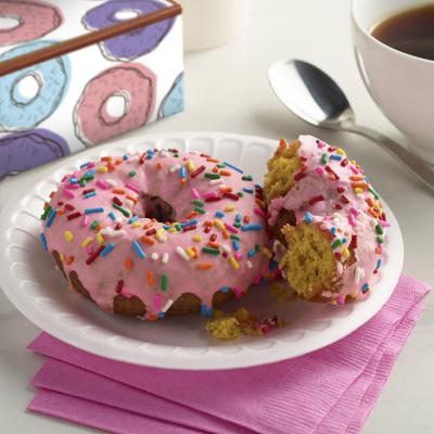 Everyday Foam Snack Plate with Donut