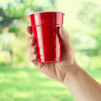 Hefty Party On Red Cup - Cup In Hand
